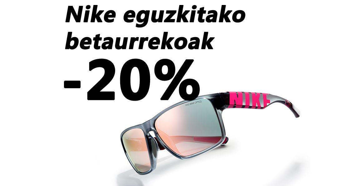 Nike eguzkitako betaurrekoen eskaintza