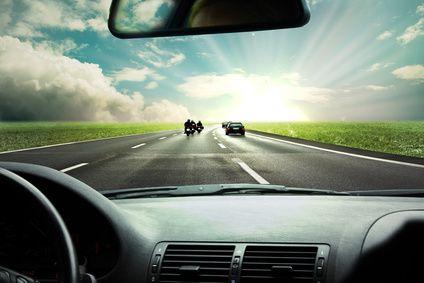 Efecto de las lentes polarizadas al volante