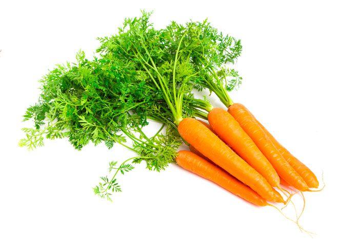 las zanahorias contienen Betacaroteno, son buenas para la visión