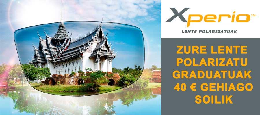 Xperio lente polarizatu graduatuak 40 € gehiago