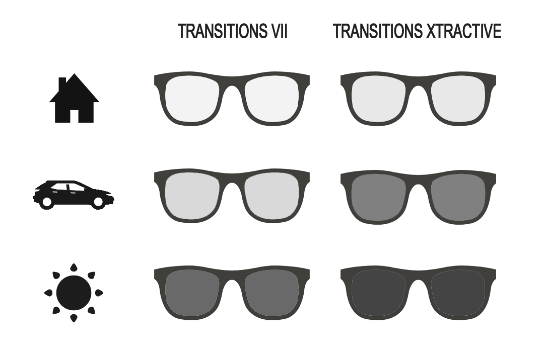 Tabla comparativa Transitions VII y Transitions Xtractive