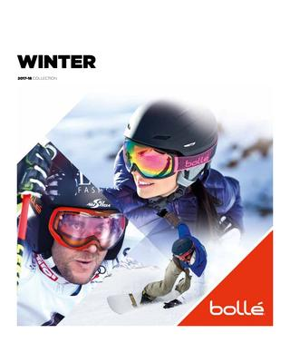 Catálogo de máscaras de nievel Bollé 2017-18